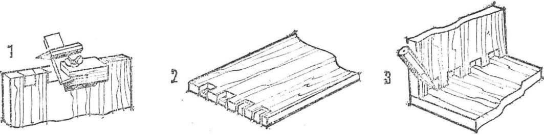 Рис. 4. Последовательность выполнения соединения «ласточкин хвост» для нескладывающихся панелей