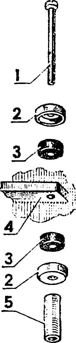 Амортизационный узел крепления двигателя.