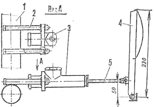 Рис. 6. Установка главного тормозного цилиндра