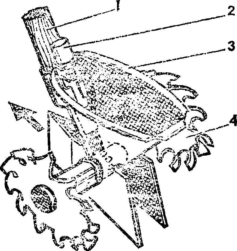 Рис. 1. Общий вид механической сеялки.