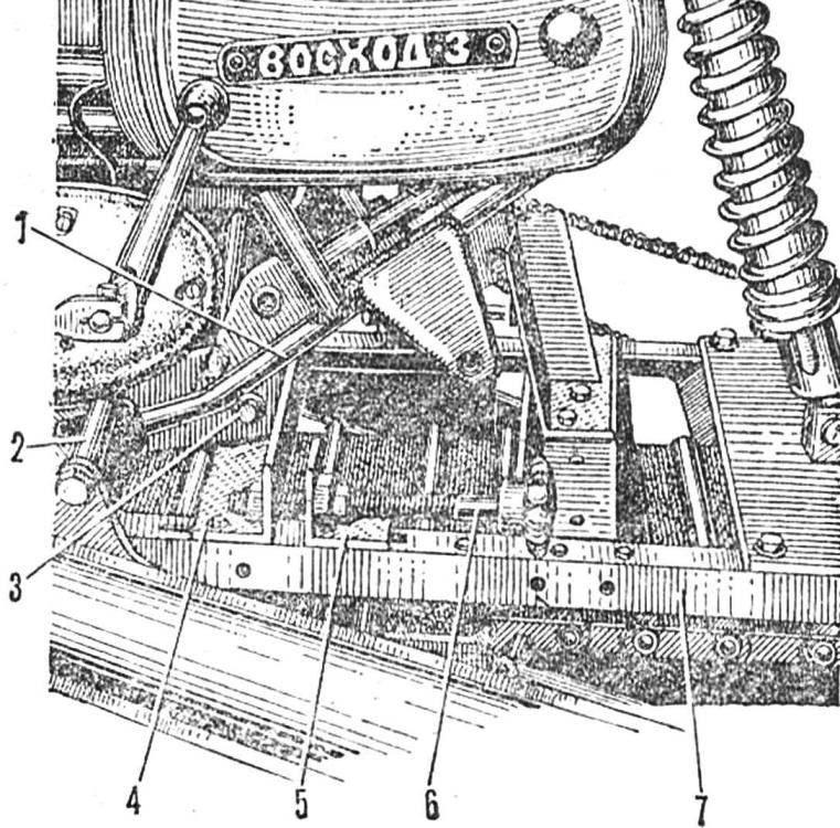 Рис. 3. Механизм натяжения цепи