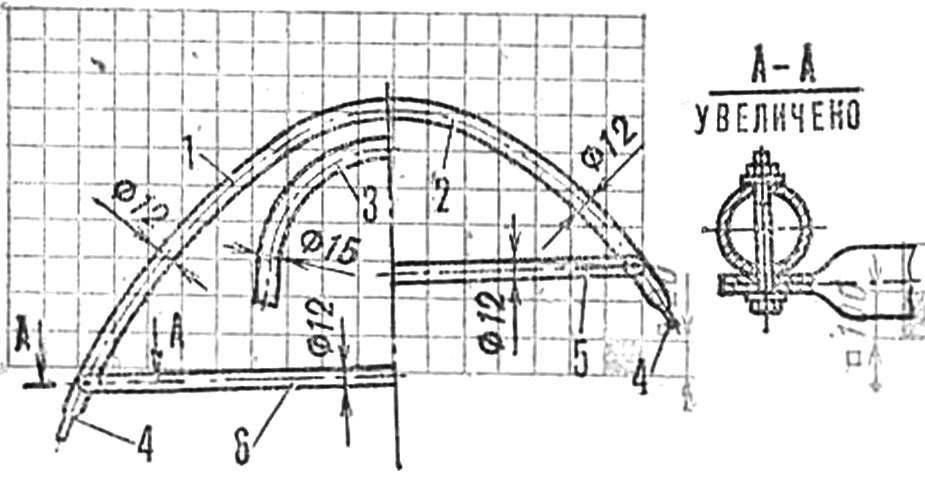 Р и с. 3. Профили шпангоутов