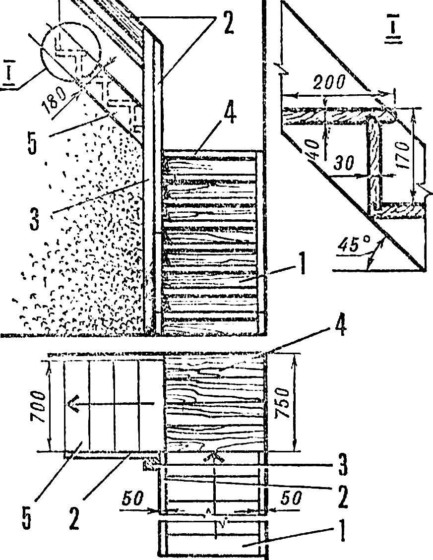 Рис. 5. Схема двухмаршевой лестницы.