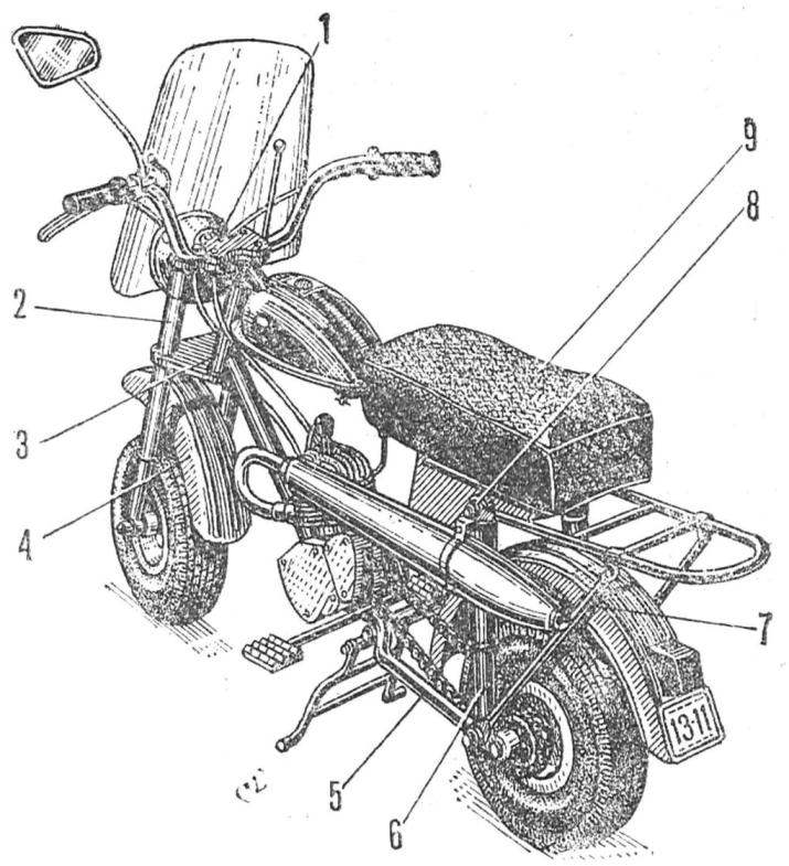 Рис. 1. Общий вид минибайка