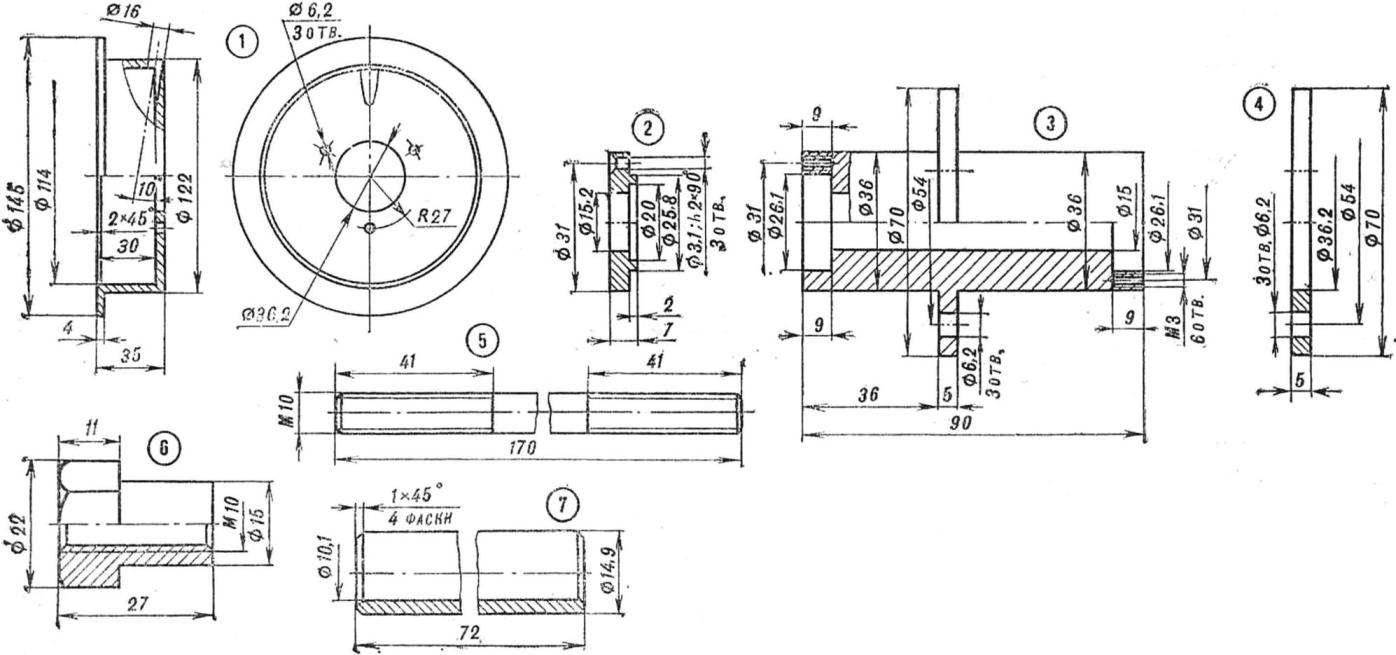 Р и с. 5. Детали переднего колеса