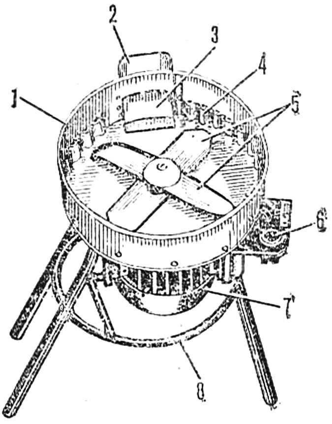 Рис. 1. Общий вид измельчителя (крышка снята)