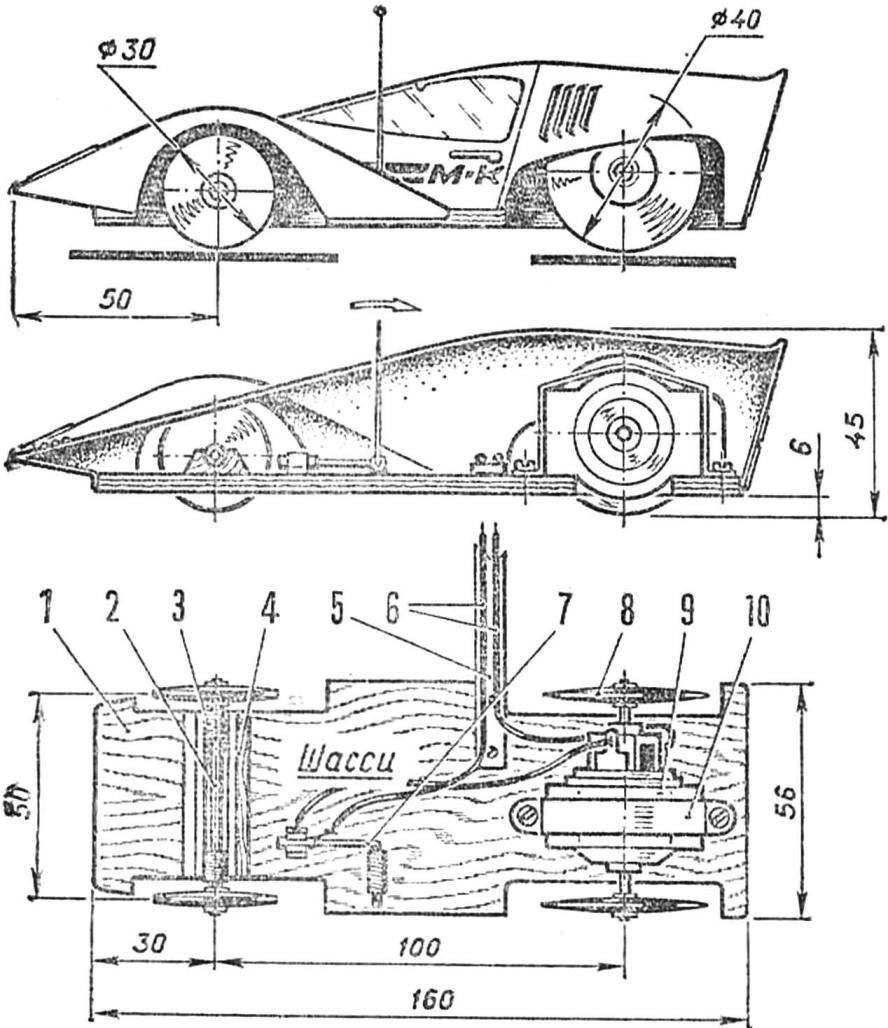 Рис. 1. Модель гоночного автомобиля
