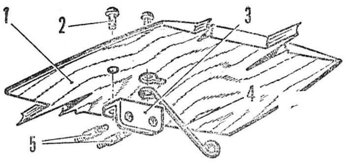 Рис. 5. Направляющий узел для норд и его крепление на крыле