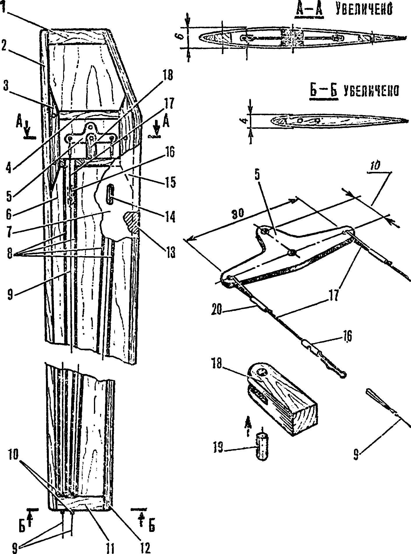 Рис. 3. Конструкция крыла.