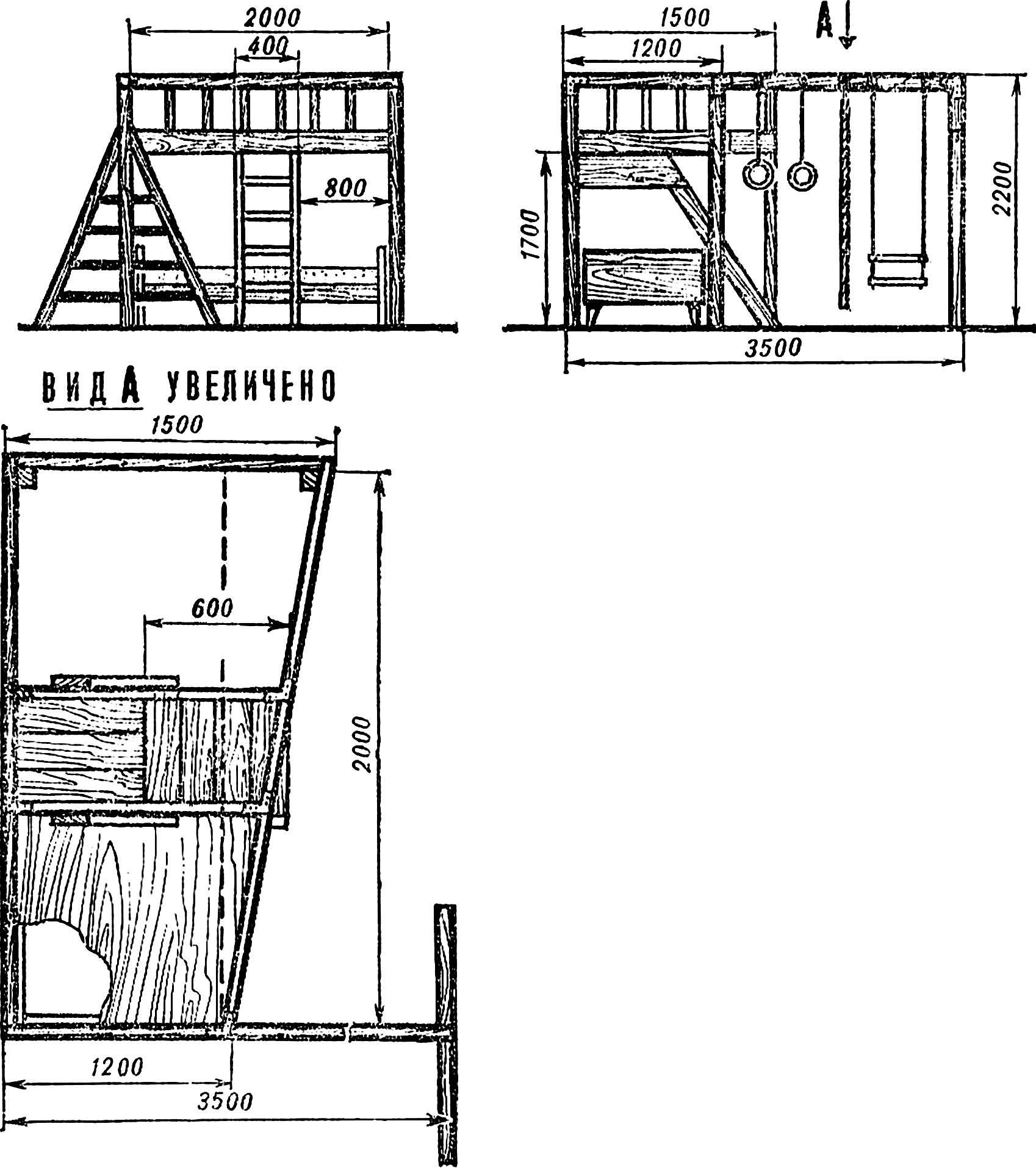 Рис. 2. Ориентировочные размеры комплекса.