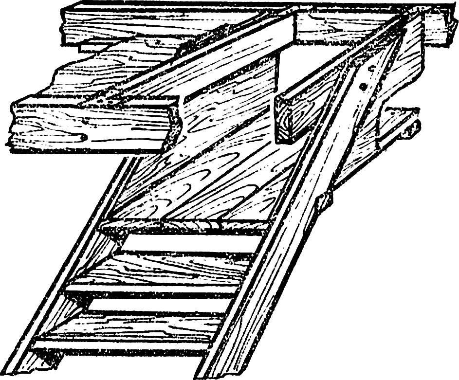 Рис. 3. Лестница с лазом наверх.