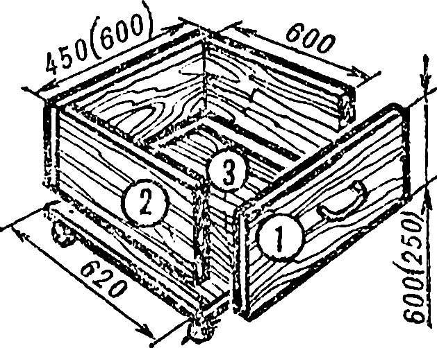 Рис. 3. Выдвижной ящик.