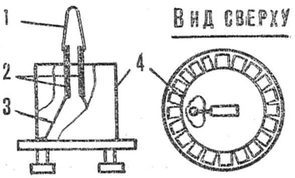 Рис. 2. Переделка стартера в датчик
