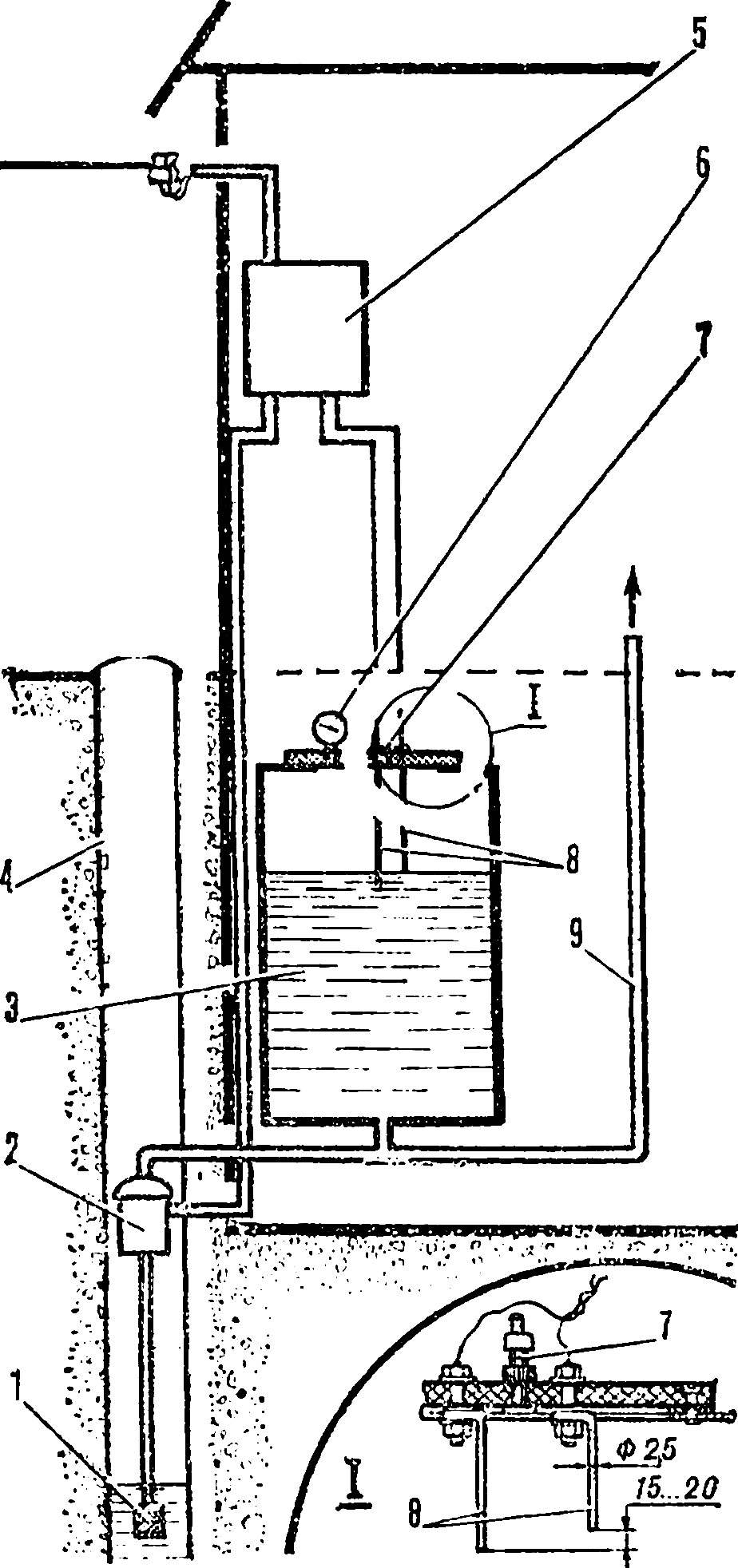 Водопровод с пневмонапором.