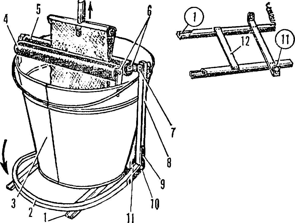 Рис. 2. Устройство отжимного приспособления.