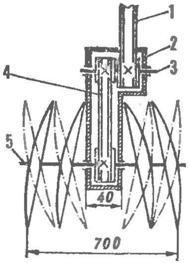 Схема трансмиссии и установки дисков