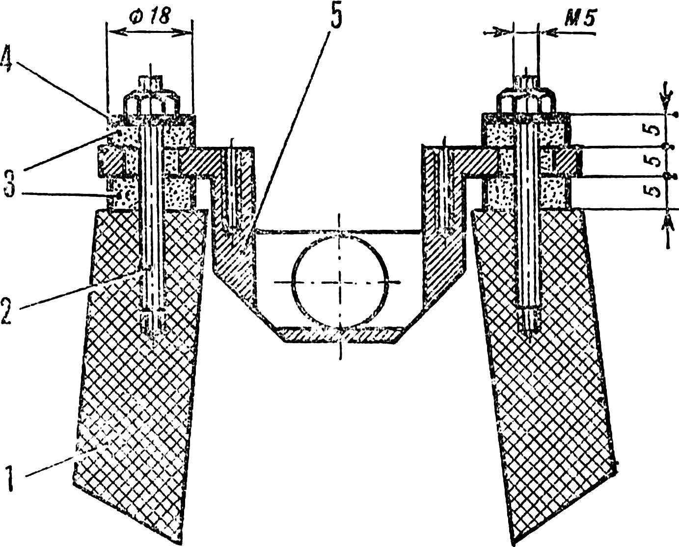 Рис. 2. Установка моторамы.