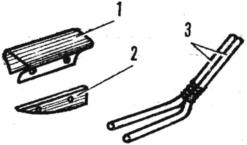 Система навески переднего основного конька