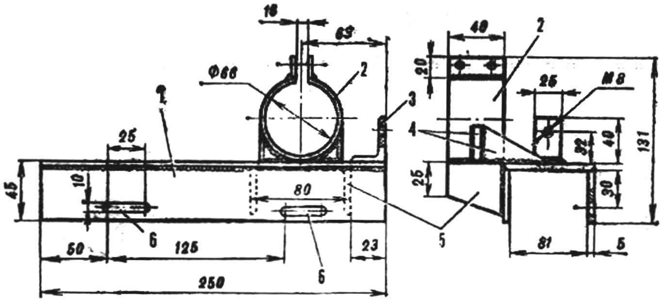 Рис. 3. Кронштейн крепления двигателя