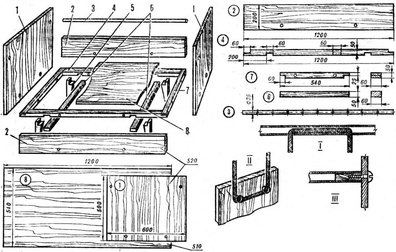 Детали кроватки