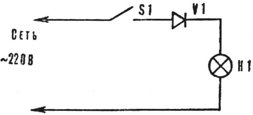 Рис. 3. Схема включения диода.