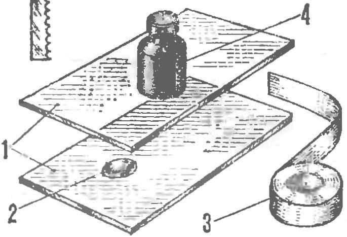 Р и с. 5. Изготовление светофильтра