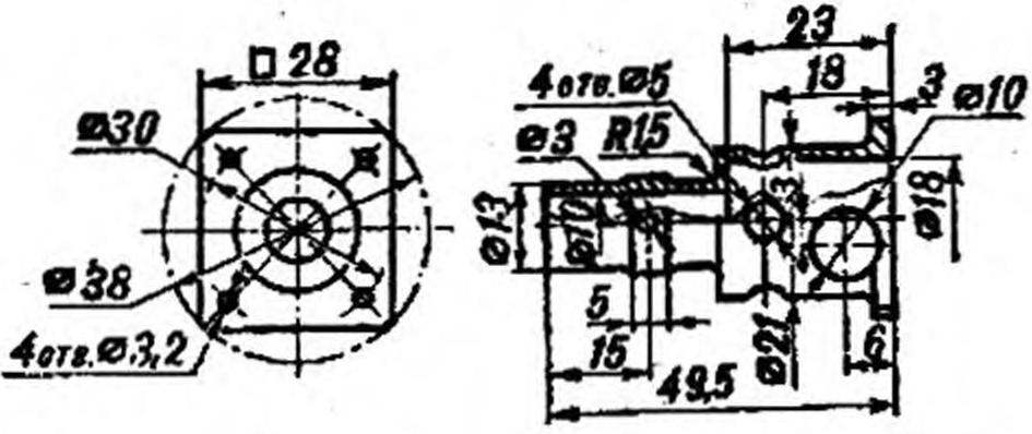 Конструкция моторамы для двигателя КМД-2,5.