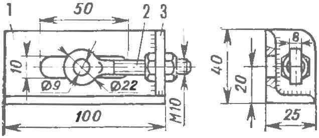 Рис. 3. Правый кронштейн колеса