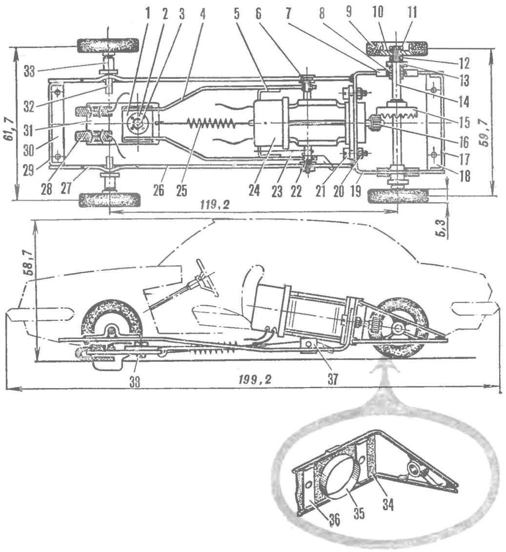 Трассовая автомодель-копия класса ТА2