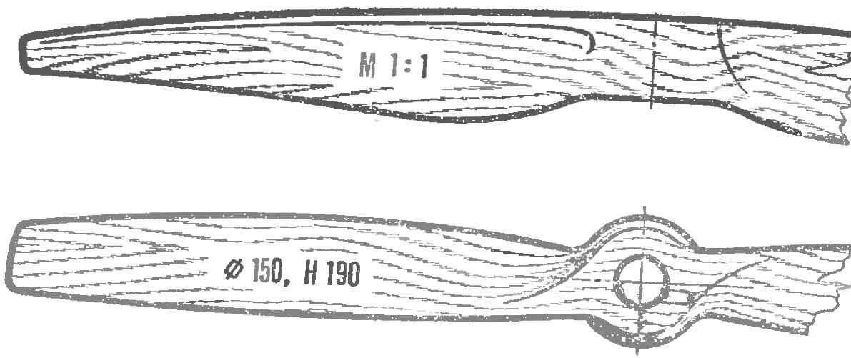 Рис. 5. Шаблоны для изготовления воздушного винта.