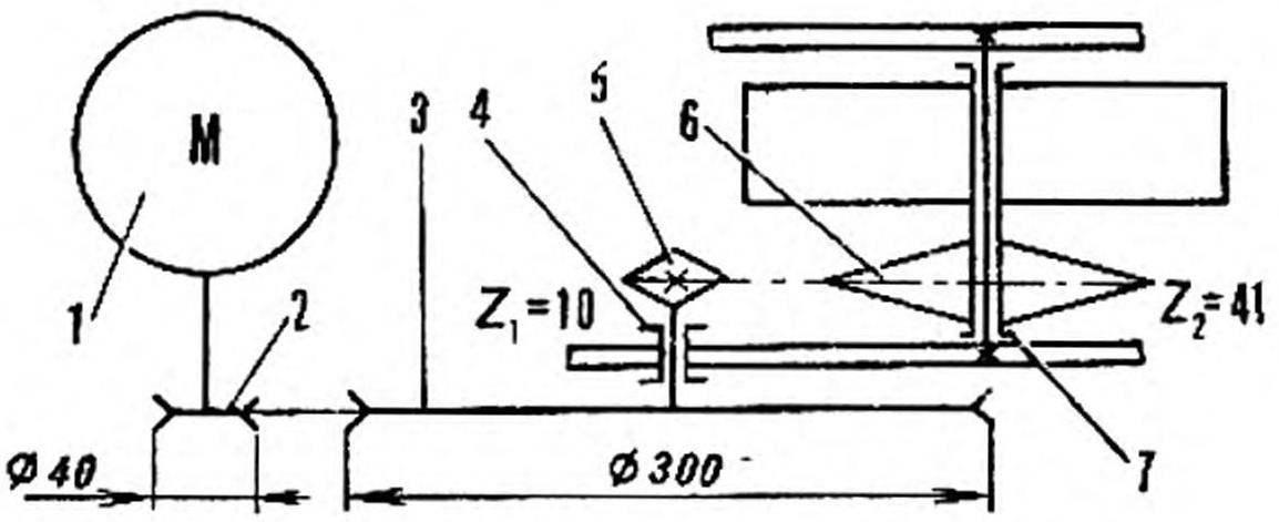 Рис. 2. Кинематическая схема