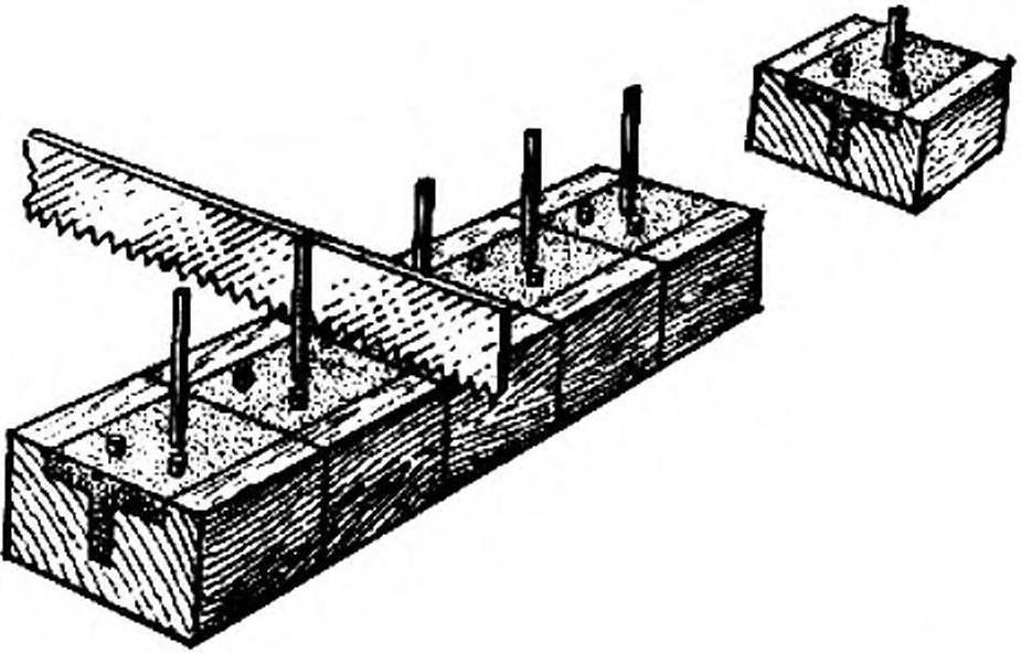 Разрезание заготовки с формой на отдельные элементы.