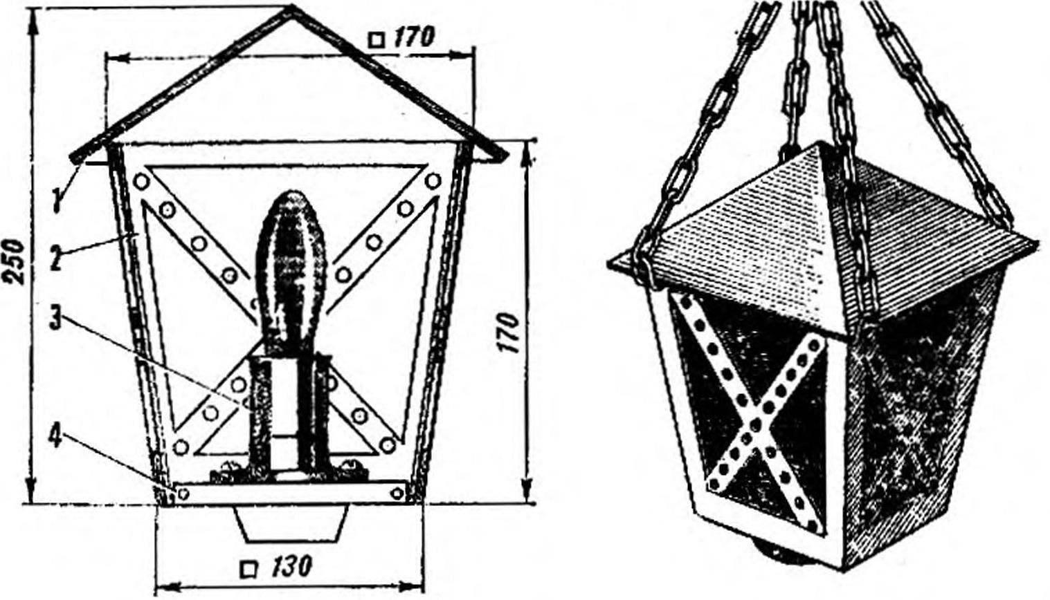 Рис. 1. «Средневековый» фонарь