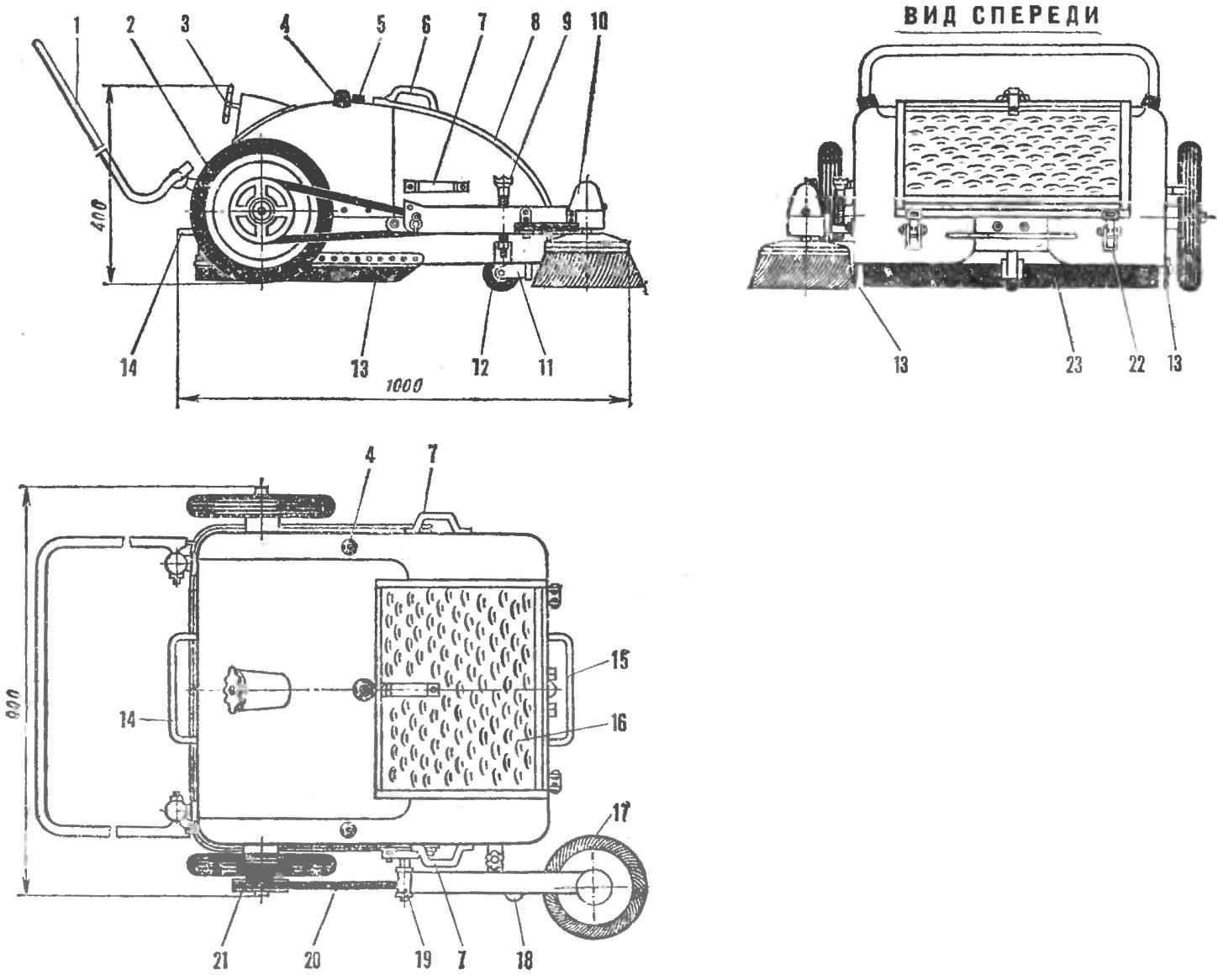 Механическая подметальная машина