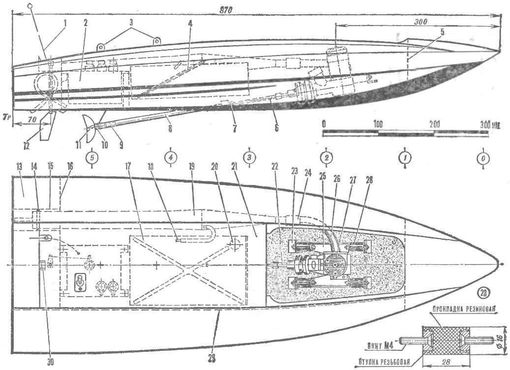 Радиоуправляемая судомодель класса FSR-6,5