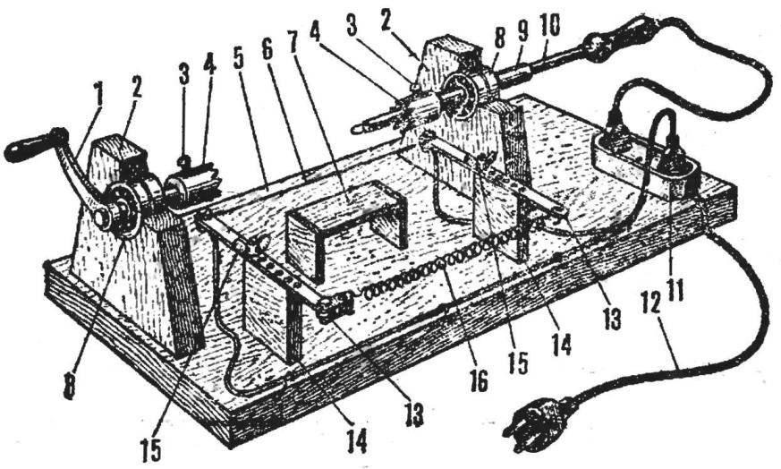 Станок для изготовления корпусов ракетомоделей