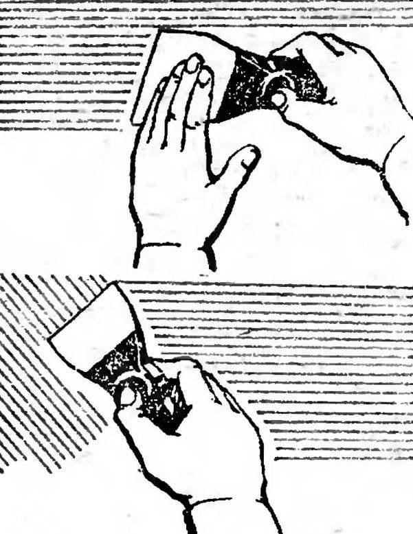 Рис. 4. Выравнивание стен и заделка трещин шпаклевкой.