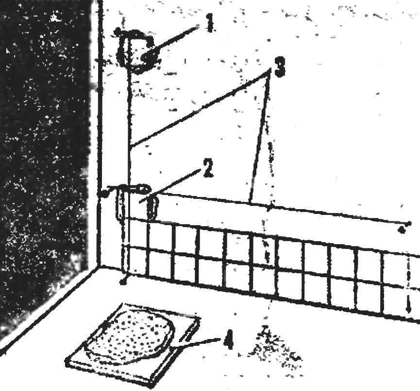 Рис. 7. Облицовка стен плитками