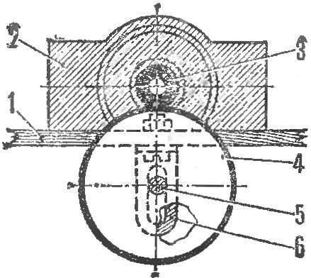 Схема фракционной передачи от двигателя к ведущей оси