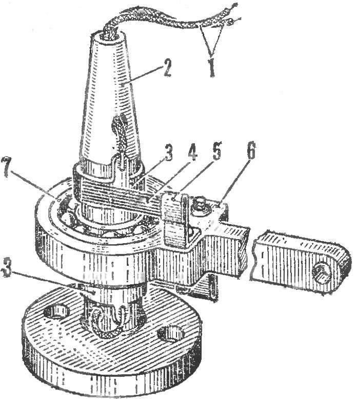 Центральная стойка (крепится на массивном основании)