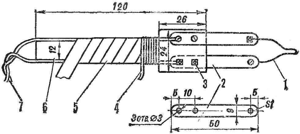 R and p. 2. Option elektrovyzhigatel with flat handle