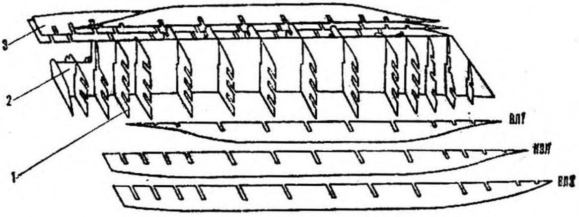 Р и с. 2. Схема сборки картонного набора
