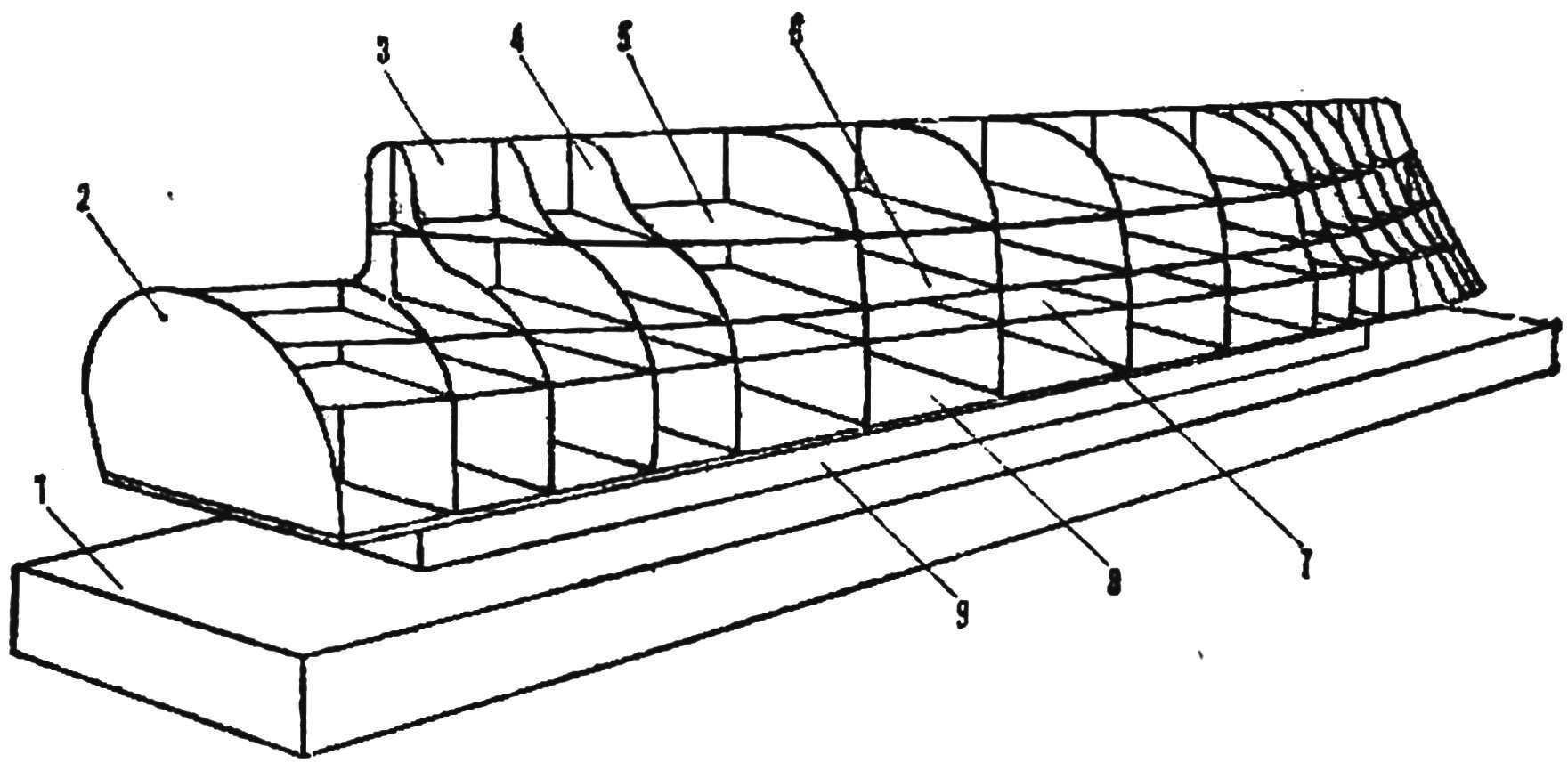 Рис. 3. Картонный набор на доске-стапеле