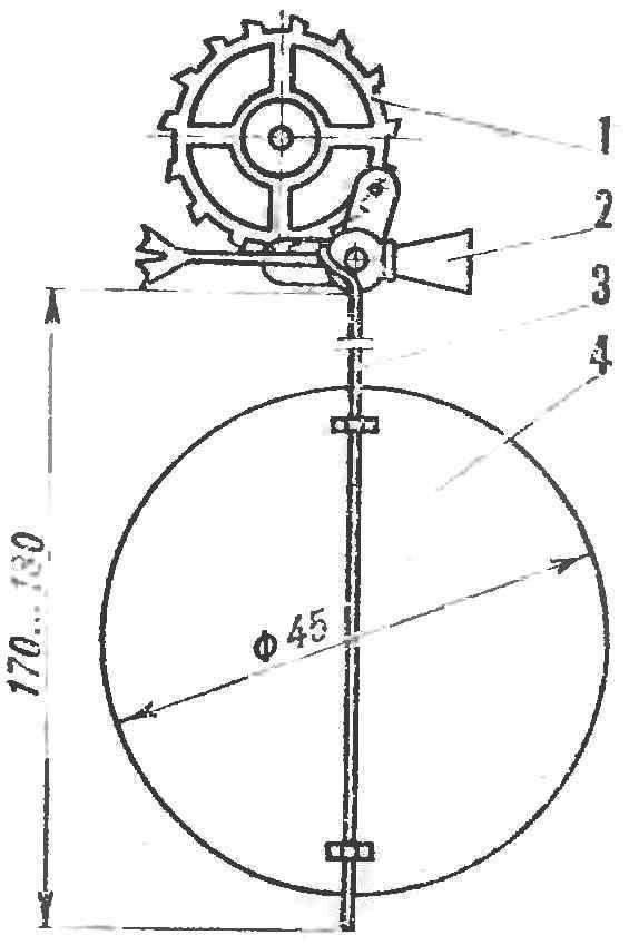 Крепление маятника