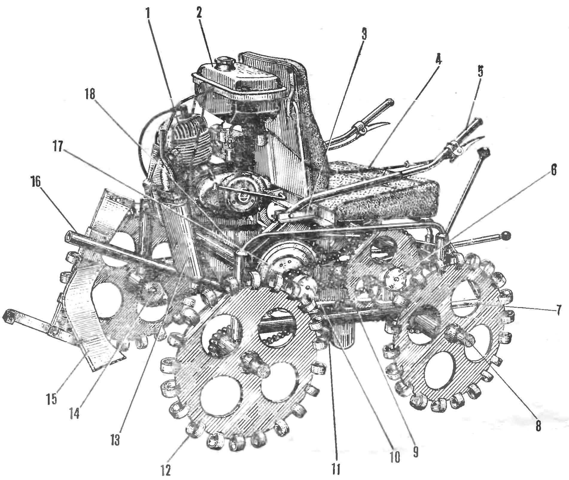 Рис. 1. Микротрактор «Калужанин-14»