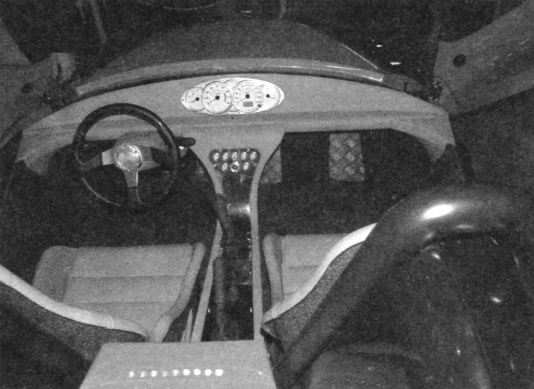 The cockpit of the Roadster