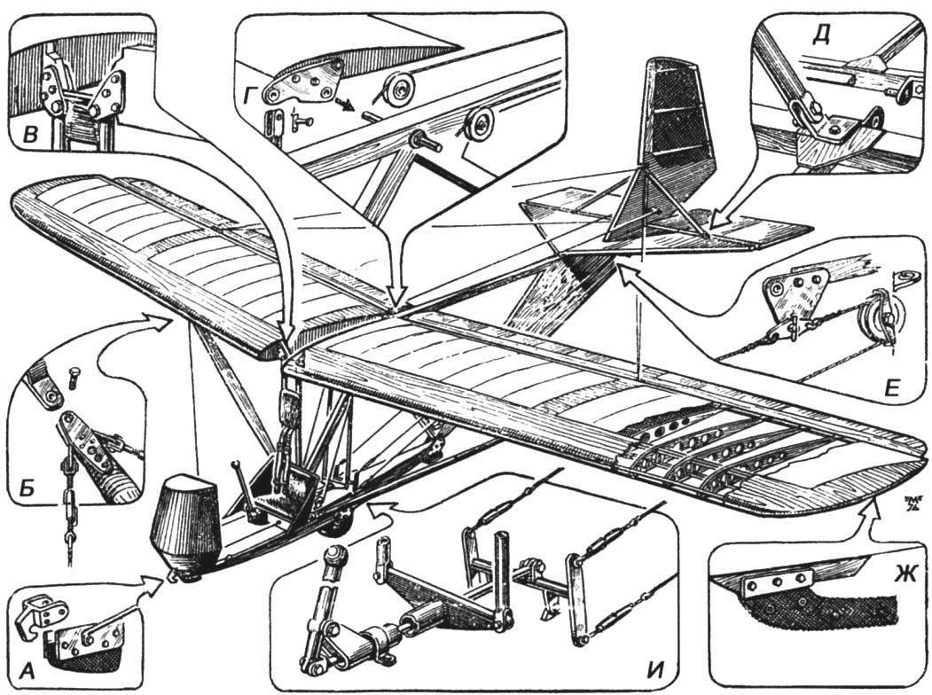 Общая компоновка планёра БРО-11М
