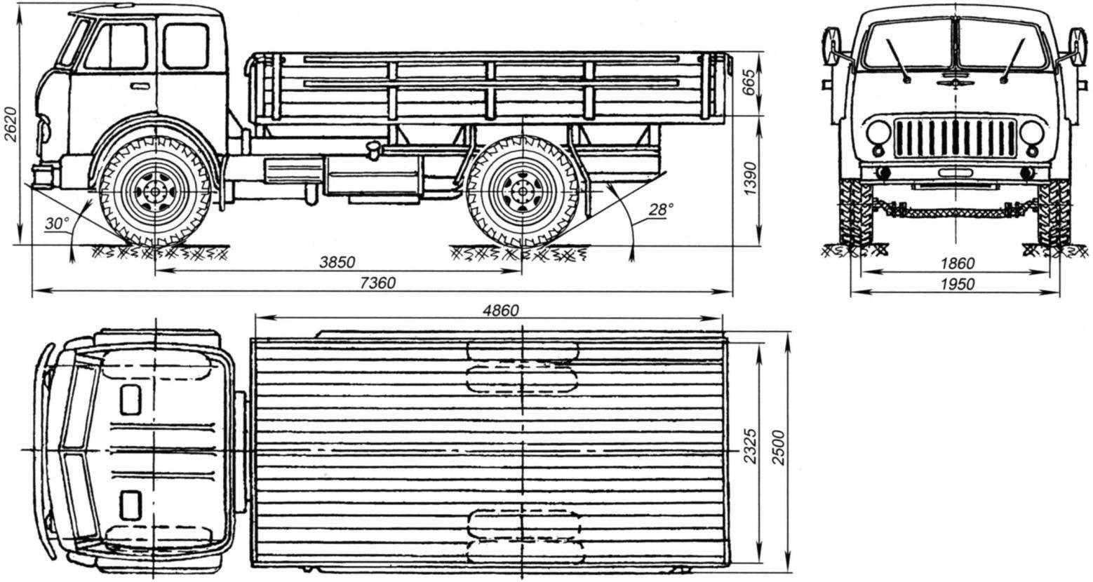 Бортовой грузовой автомобиль МАЗ-500