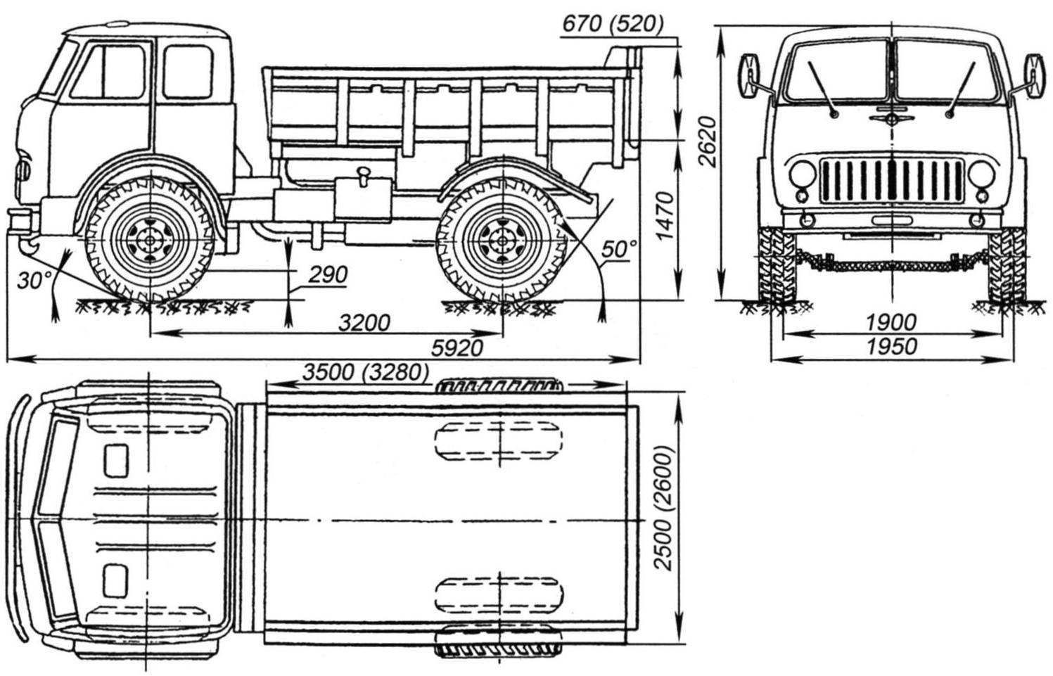 Автомобиль- самосвал МАЗ-504