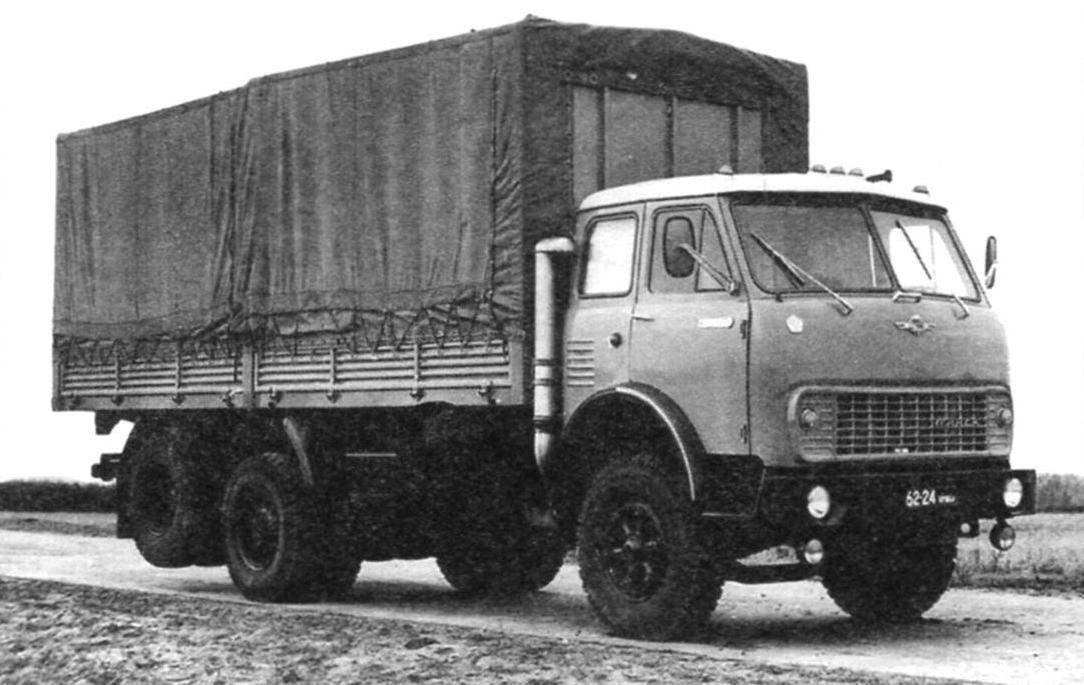 Автомобиль с подъёмной дополнительной осью МАЗ-516 (6x2)